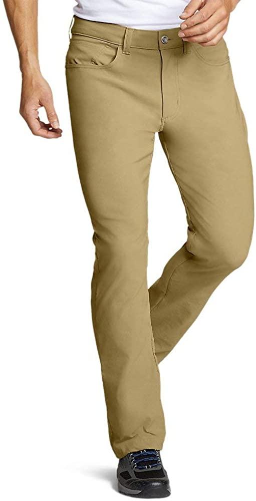 Eddie Bauer Mens Horizon Guide Five-Pocket Pants - Straight Fit, Saddle Regular