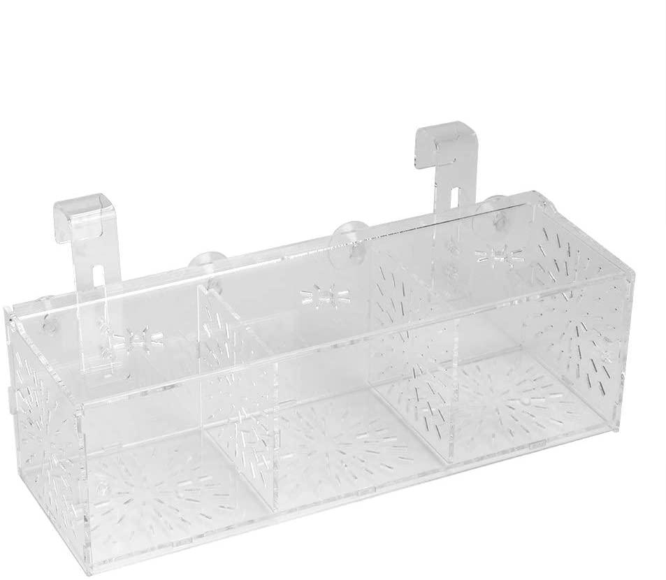Yunnyp Aquarium Tank Hatching Separator,Acrylic Breeding Box Hatchery Incubator Holder