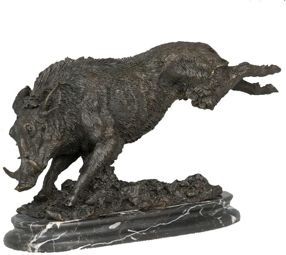 Toperkin Statue Home Decor Art Animal Pig Bronze Sculpture Real Bronze 100% Boar Bronze Statue