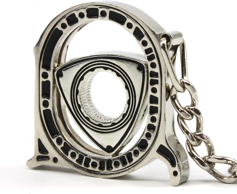 Rotary13B1 Spinning Rotor Key Chain - Nickel Plated