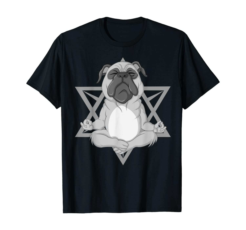 Cute Pug Yoga | Funny Animal Meditation Fitness Workout Gift T-Shirt