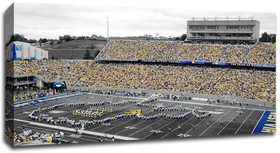 West Virginia - College Football - 40x22 Gallery Wrapped Canvas Wall Art TOC