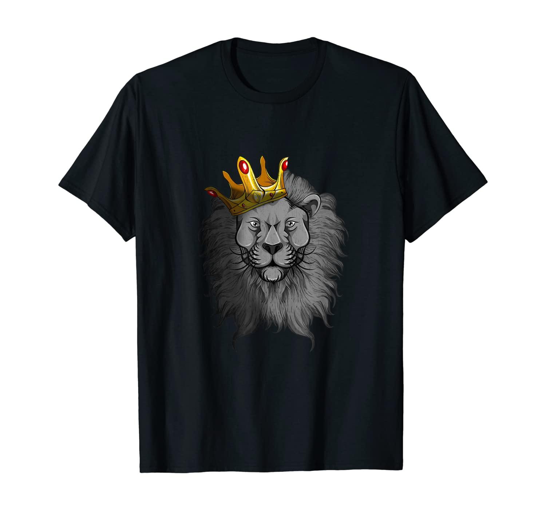 King Portrait Crown Animal Lion T-Shirt