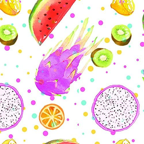 Stitch & Sparkle Fabrics, Fruity, Colorful Fruits Cotton Fabrics, Quilt, Crafts, Sewing, Cut by The Yard