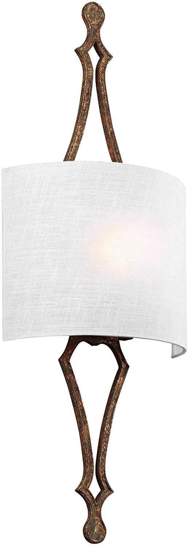 Feiss WB1859DSGL Tilling Wall Sconce Lighting, Brass, 1-Light (12W x 30H) 60watts
