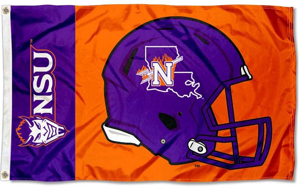 College Flags & Banners Co. Northwestern State Demons Football Helmet Flag