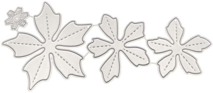 minansostey Flowers Combination Metal Cutting Dies,Stencil, Scrapbooking DIY Album Stamp,Card