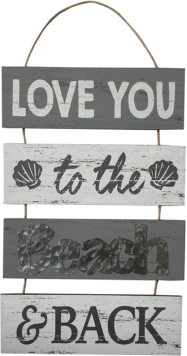 Fancy That Love You to The Beach and Back Wall Plaque