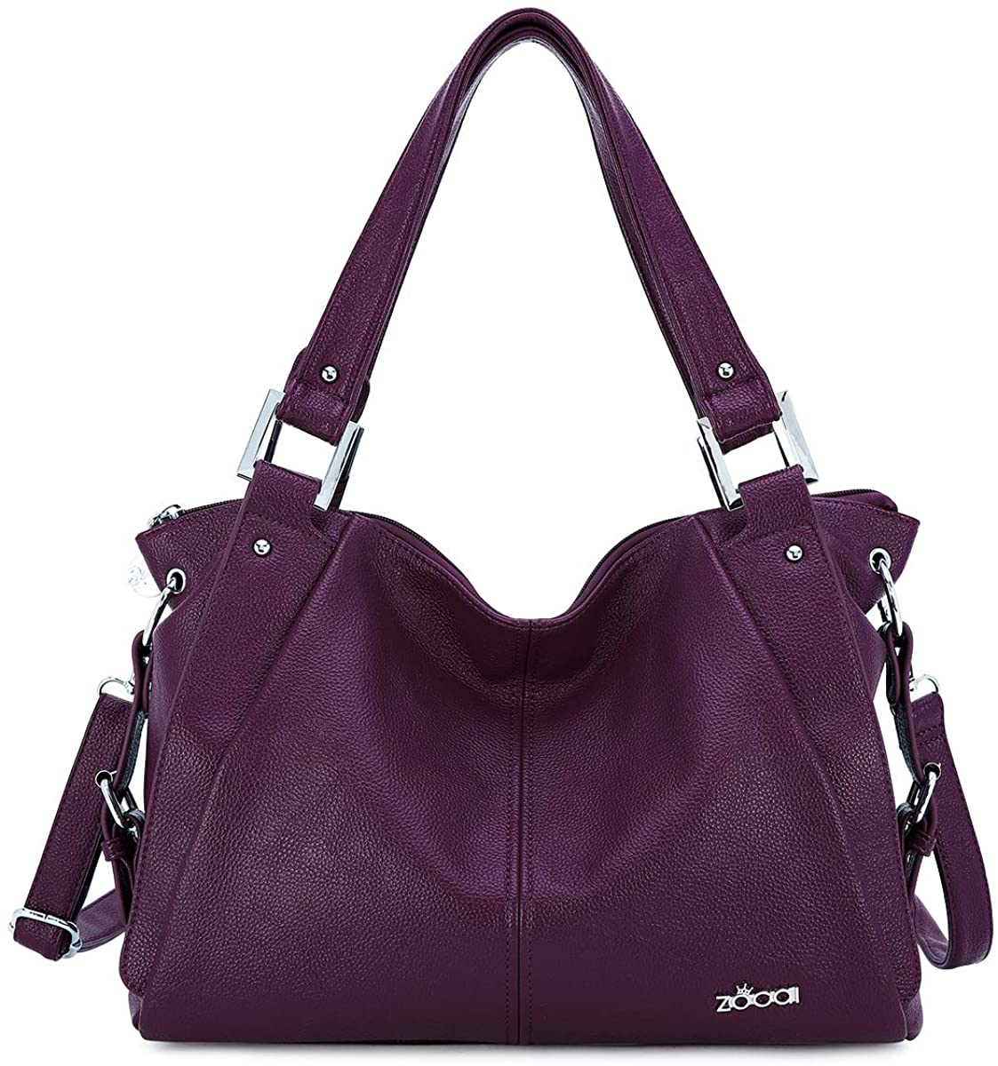 Hobo Shoulder Bag for Women Tote Handbags Purses Street Satchel PU Leather with Multi Pockets Best Gift for Ladies