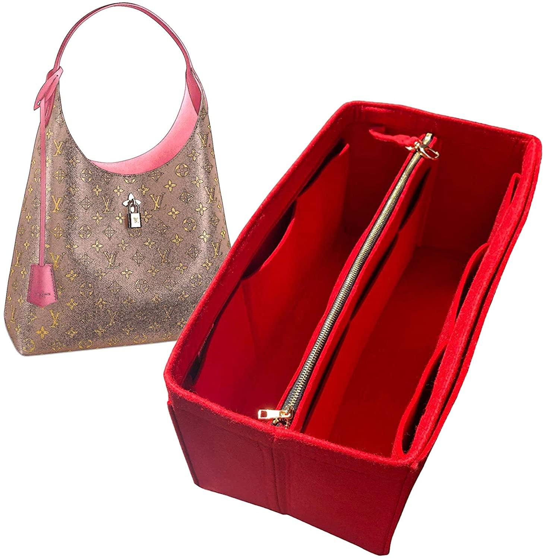 Flower Hobo Organizer, Felt Purse Insert Bag Liner Shaper Protector Pouch Tote Organize Handbag (Style B)