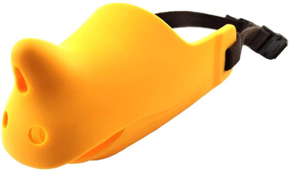 Tanyz Adjustable Anti-Barking bite Chewing Breathable Silicone Soft Medium to Small Dog Rhinoceros Dog Muzzle pet Muzzle