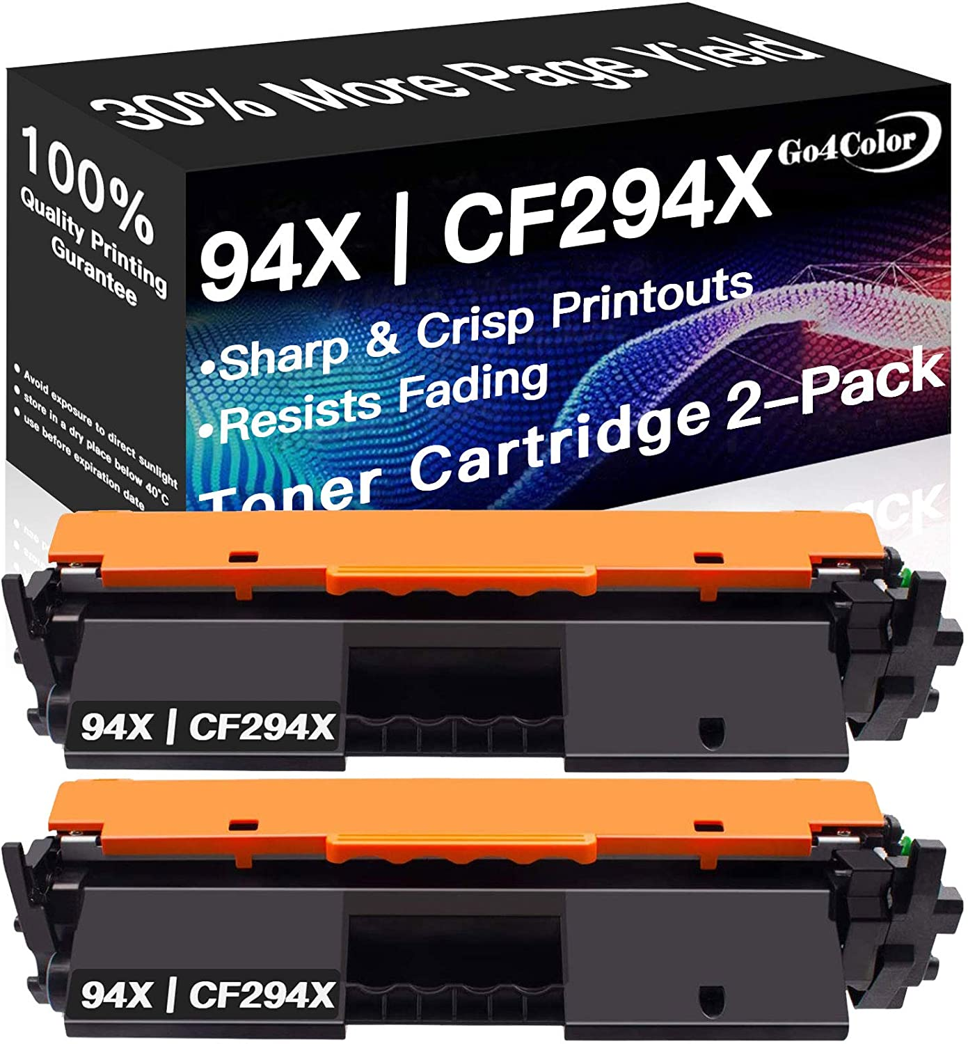 2-Pack Compatible High Yield CF294X 94X Printer Toner Cartridge 94A CF294A Used for HP Laserjet Pro M148 M148dw M148fdw M149 M149dw M149fdw M118dw M118 (Black), Sold by Go4color