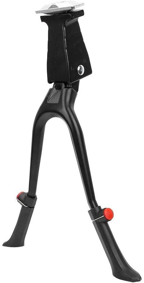 Bike Kickstand-Lightweight Metal Adjustable Bike Side Stand Dual Leg Kickstand Accessory for 26in Bicycle