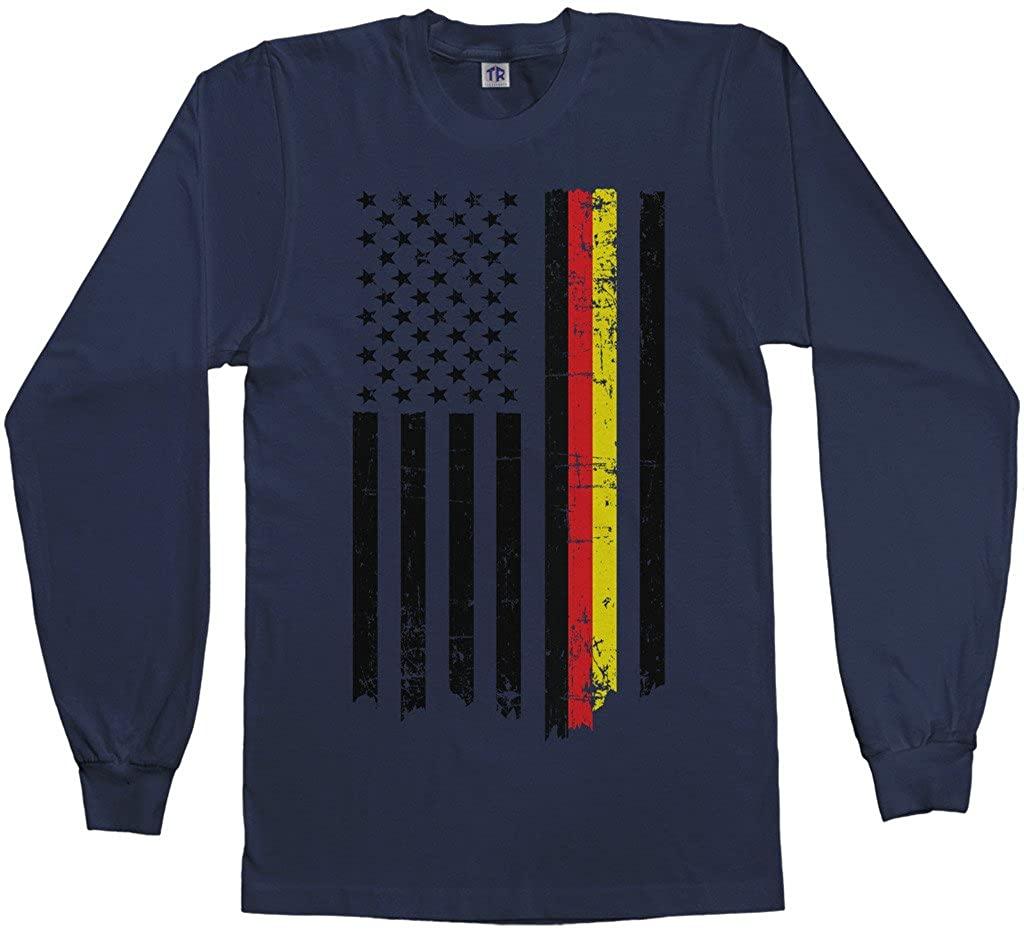 Threadrock Mens Germany USA German American Flag Long Sleeve T-Shirt