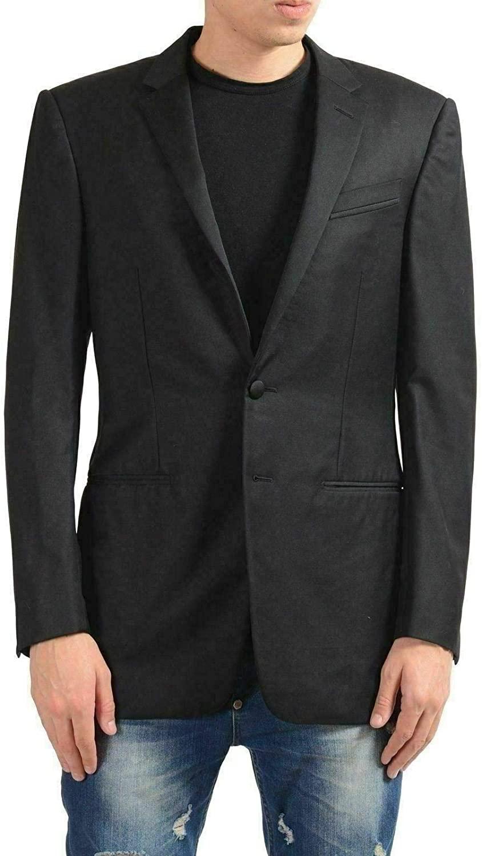 Versace Gianni Men's 100% Wool Black Two Button Blazer Sport Coat US 38 IT 48