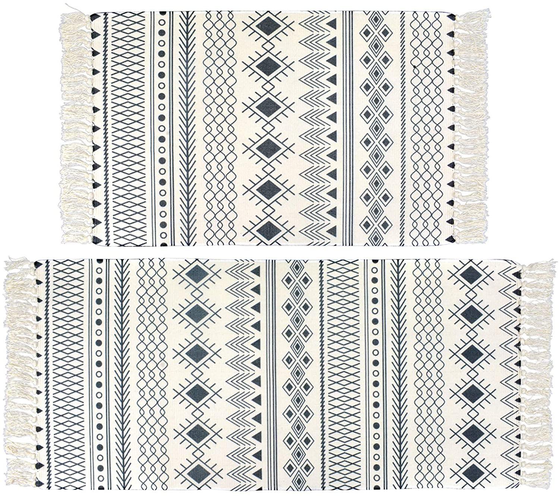 Satbuy Cotton Area Rug Set 2 Piece 2'x3'+2'x4'4