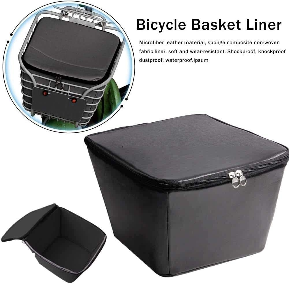 Rpaio Mobility Scooter Basket Cover Multi-Purpose Bicycle Scooter Basket Liner, Rainproof Dustproof Shockproof Soft and Wear-Resistant Compatible with Most Bicycles and Scooter Frames Waterproof Rain