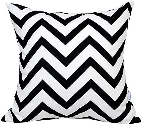 TangDepot Decorative Handmade Zebra-Stripe/Wavy Line 100% Cotton Throw Pillow Covers/Pillow Shams, (22