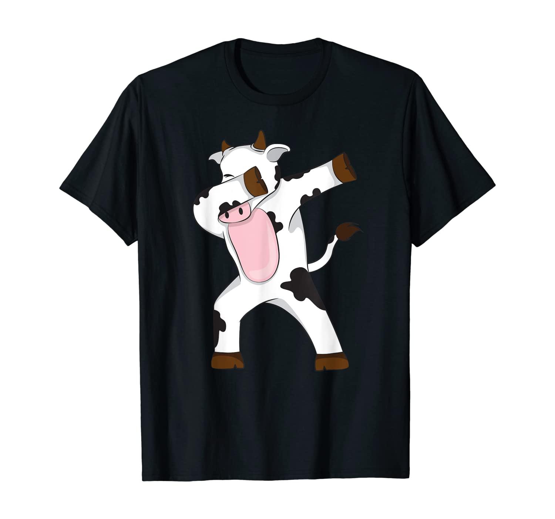 Dabbing Cow Dab Funny Gift idea for men women kids cute T-Shirt
