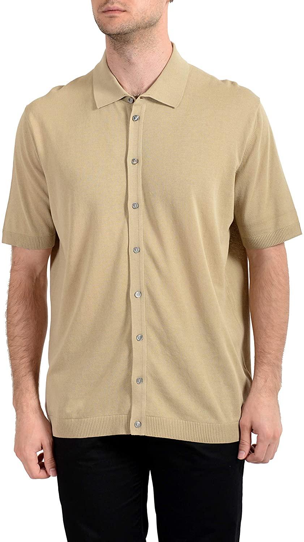 MALO Men's Beige Short Sleeve Casual Shirt US 3XL IT 58