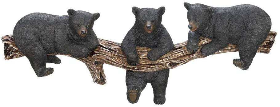 Black Bear Wall Hooks for Home Decor Creative Decoration