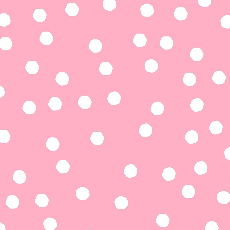Jumbo Dots Pink/White Fabric Yard