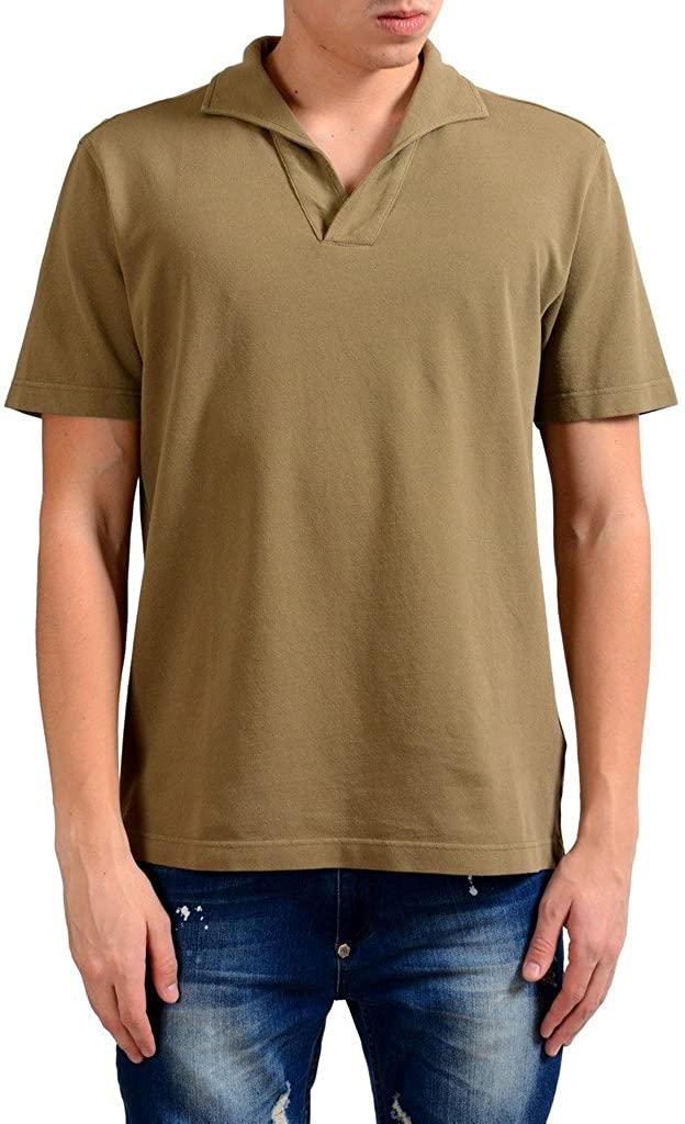 MALO Men's Brown Short Sleeve Polo Shirt