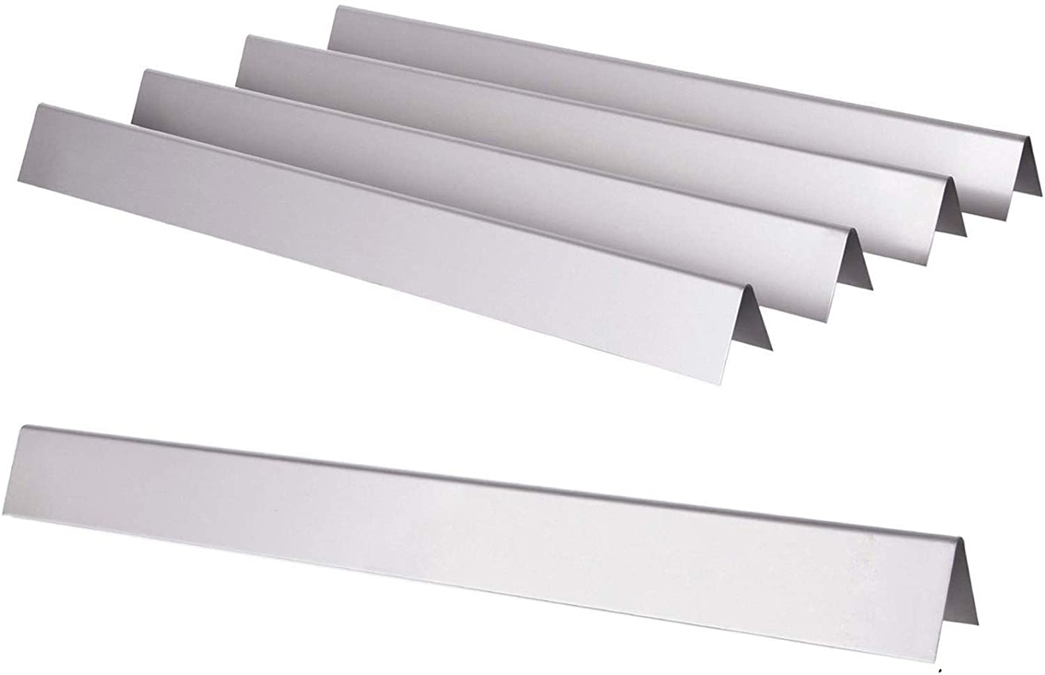GGC 21.5 inch Flavorizer Bars for Weber 7534 7535, Genesis Silver A, Spirit 500,Spirit 200 Series E/S200 E/S-210 with Side Control Knobs, 5-Pack Stainless Steel Flavor Bars