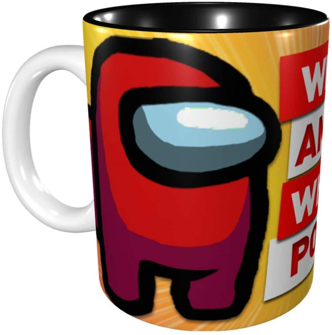 Among Us Impostor Coffee Mug Sus Meme Among Us Game Imposter Merch Black Ceramic Coffee Mug/Tea Cup 11oz