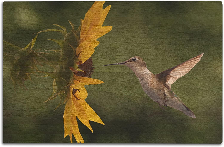 Lantern Press Hummingbird (12x18 Wood Wall Sign, Wall Decor Ready to Hang)