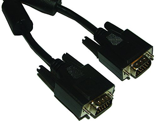 SPC20052 - Computer Cable, SVGA, HD-15 Plug, HD-15 Plug, 10 ft, 3 m, Black (Pack of 2) (SPC20052)