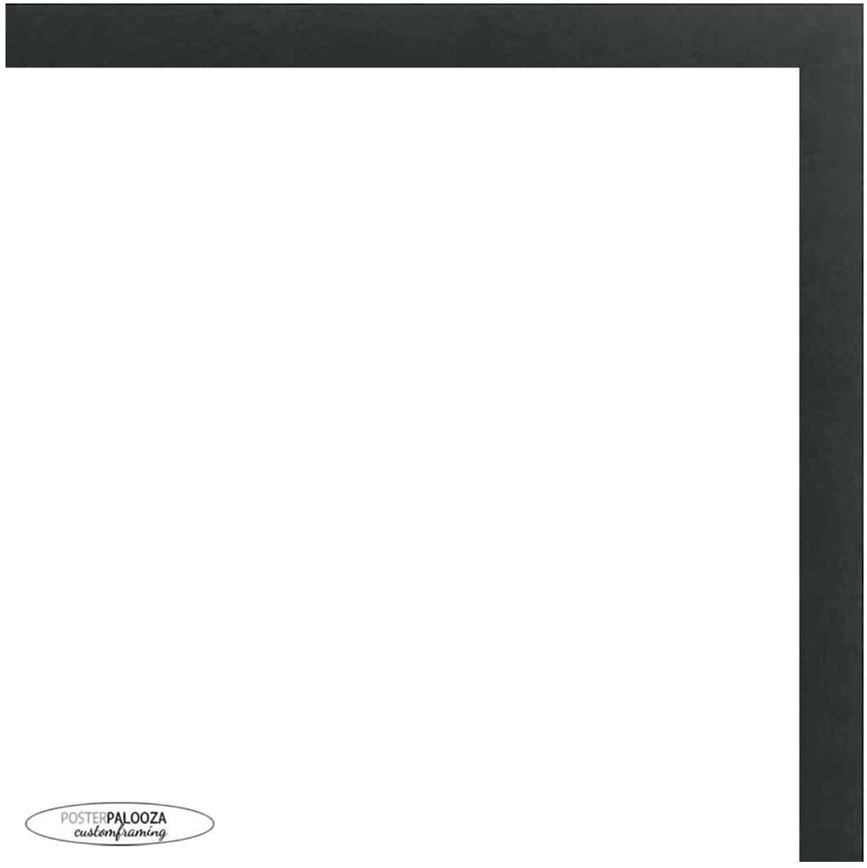 Poster Palooza 22x22 Contemporary Black Wood Picture Square Frame - UV Acrylic, Foam Board Backing, Hanging Hardware Included!