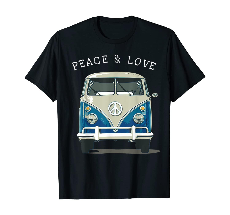 Vintage 1960er year Hippie Bus Van T-Shirt