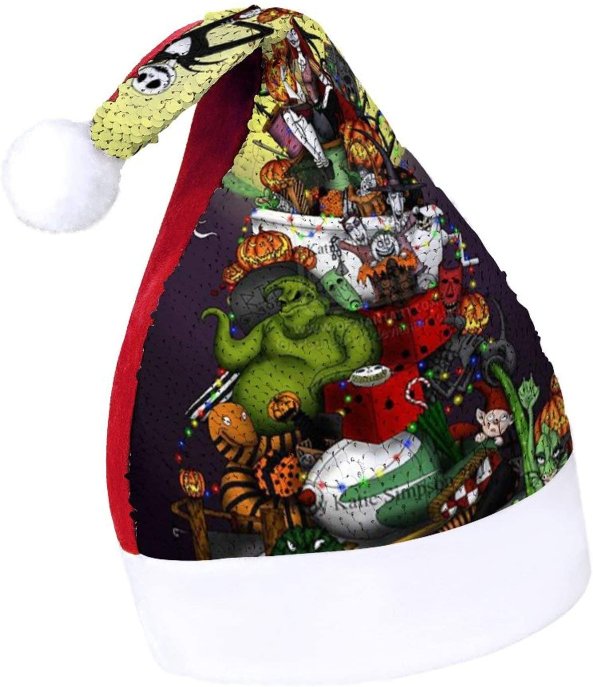 Christmas Hat The Terrible Nightmare Before Christmas Fashion Xmas Party Cap Red/Green