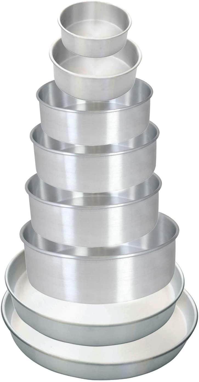Aluminum Layer Round Cake Pans Professional Bakeware 2 Depth x 6 Diameter (12 PC)