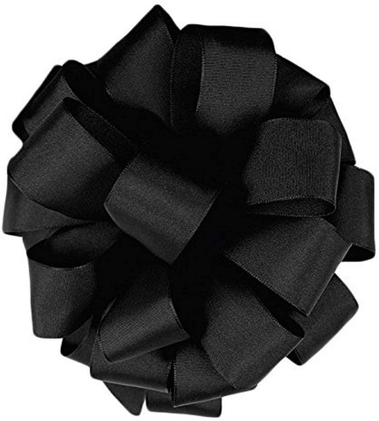 Berwick Offray LLC Offray Revogue Wired Edge Taffeta Ribbon-1-1/2 W X 50 Yards-Black Ribbon