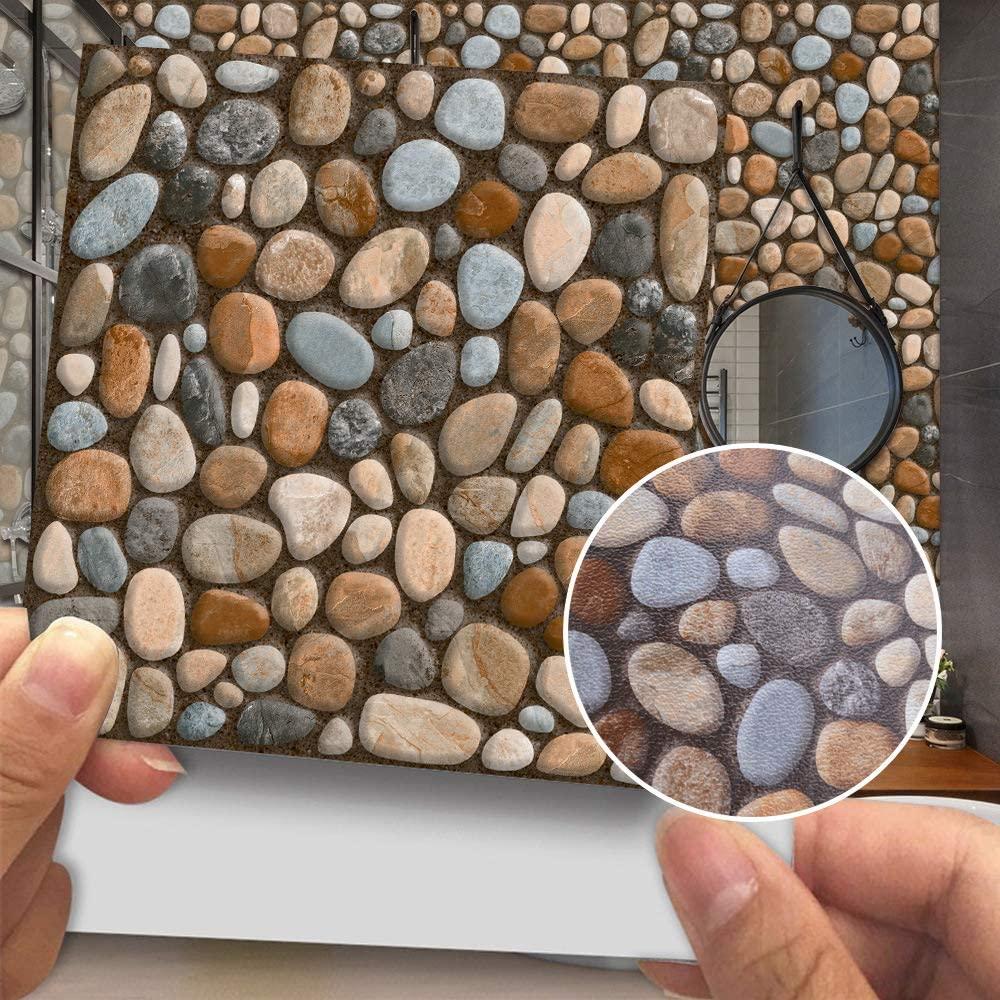 Gaonmic Wall Tile Stickers Self-Adhesive Waterproof Backsplash Stickers for DIY Kitchen Bathroom Decor 20 pcs