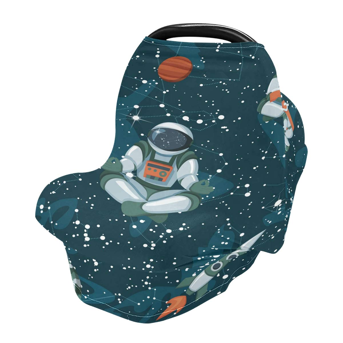 Nursing Cover Breastfeeding Scarf Space Galaxy- Baby Car Seat Covers, Infant Stroller Cover, Carseat Canopy for Girls and Boys(47)