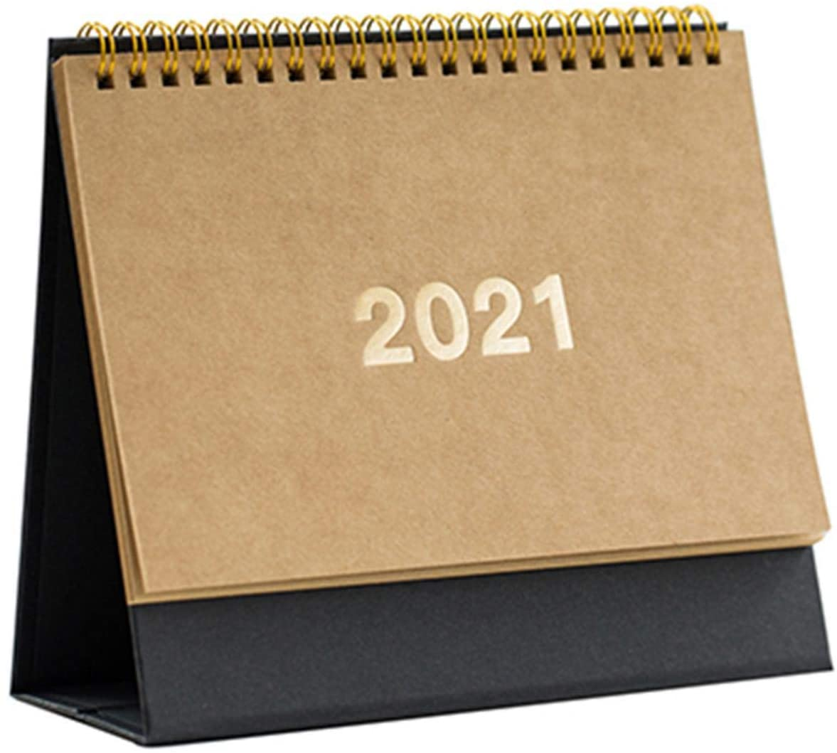 2021 Desk Calendar Month to View, 2019-2021 Cute Desktop Standing Flip Monthly Calendar, Retro Desk Calendar for Use from August 2019 to December 2021