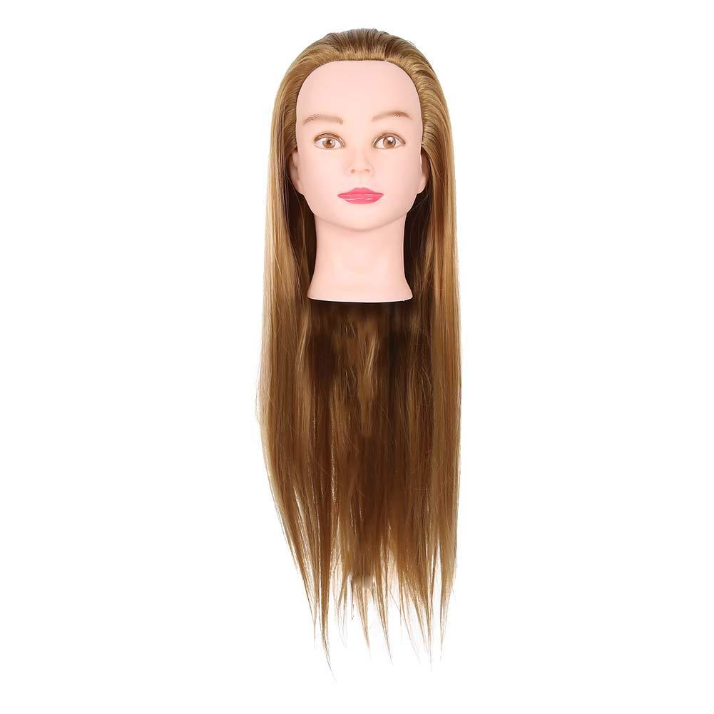 Training Head Wig Hair Mannequin Head 70cm Hairdressing Head Hair Styling Braiding Salon Training Practice Head Model for Braiding Stying