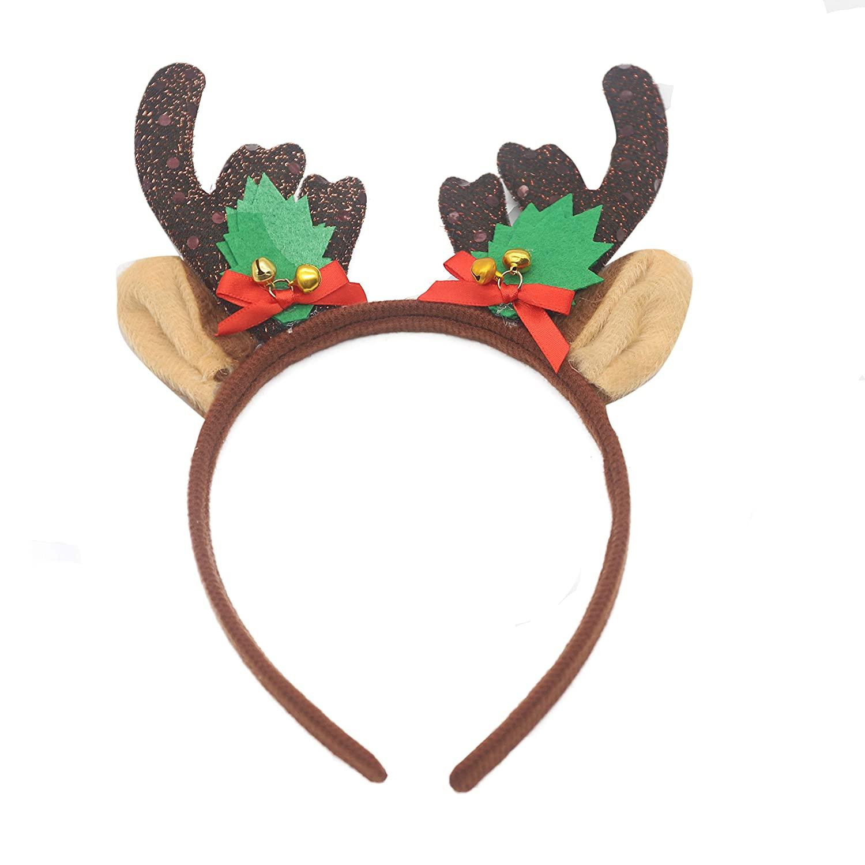 FXmimior Headband Elk Christmas Party Decor for Xmas DayAccessories Antler Headband Christmas Party