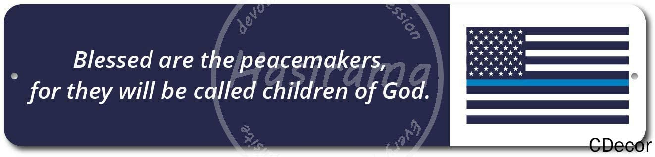 Blessed Peacemakers Flag Tin Signs Metal Poster Warning Sign Decor for Garage Home Garden Retro Tin Sign Wall Birthday Party Bar Cafe Kitchen