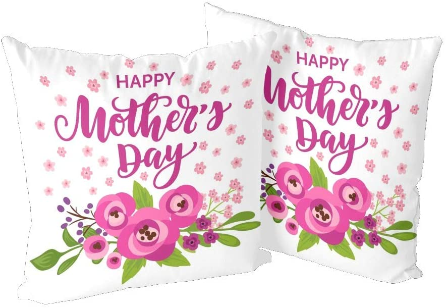 CUXWEOT Pillow Case Pillowcase Zippered Pillow Cases Protector Cover Size 18x 18 inchMother's Day Flower