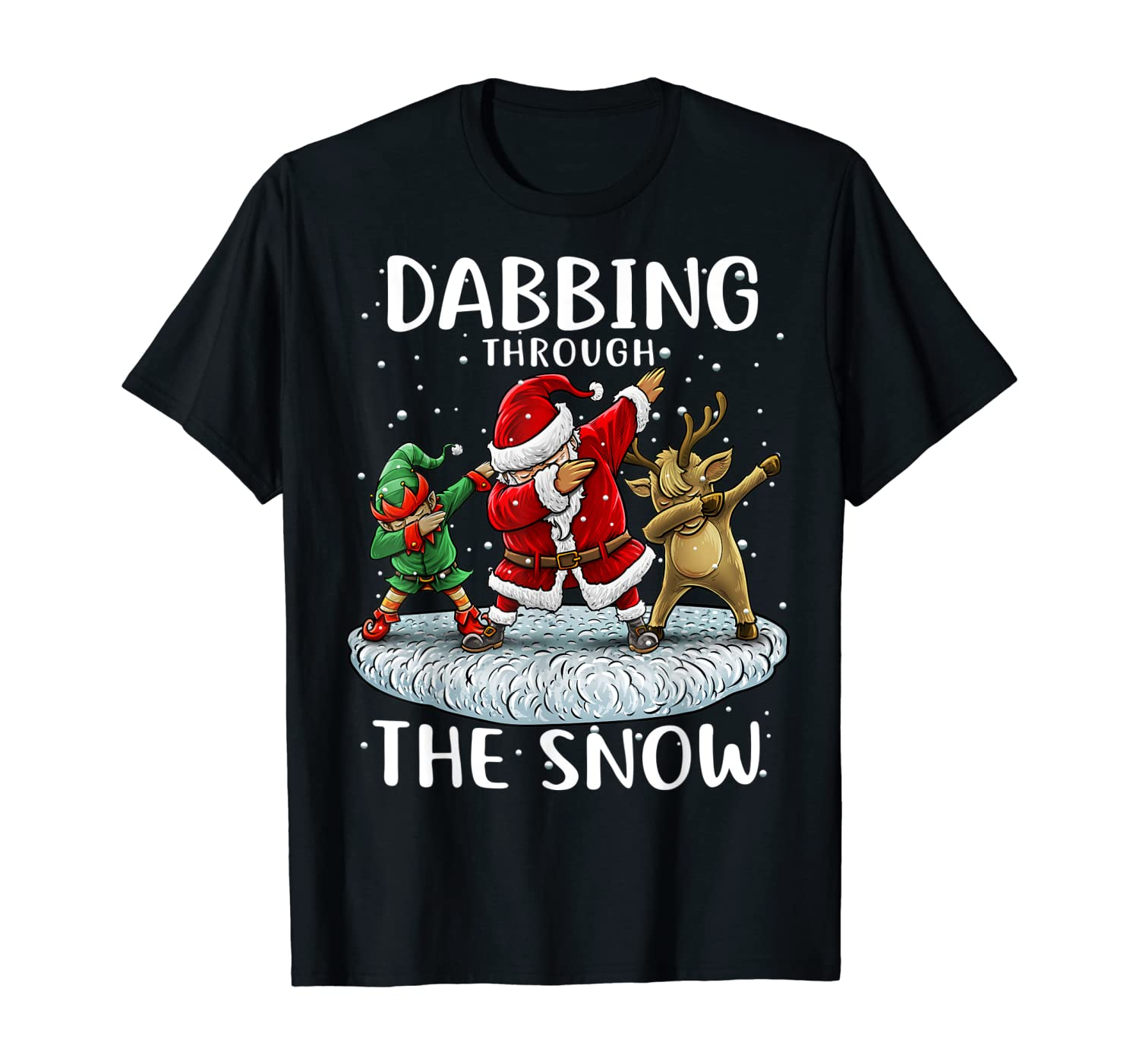 Santa Dabbing Through The Snow Funny Christmas Boys Kids T-Shirt