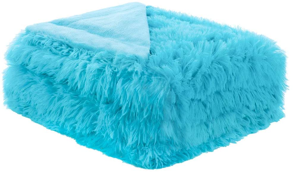 uxcell Solid Faux Fur Full Size Blanket 70