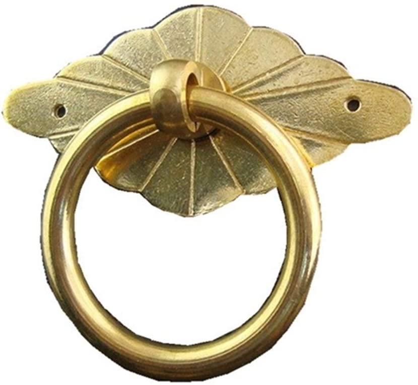 Quisilife Drawer Handle Door Handle Antique Furniture Accessories Copper Medicine Cabinet Handle Simple Installation (Color : Brass)