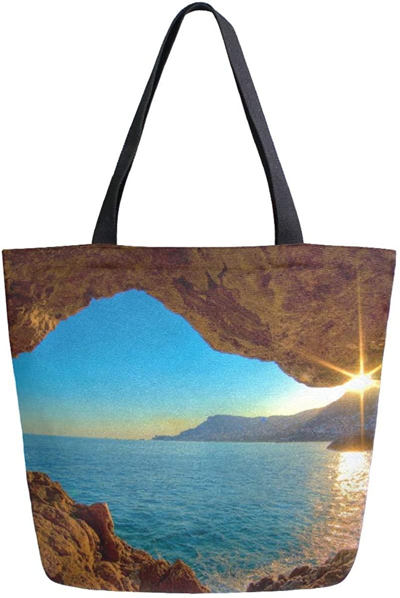 Woman Tote Bag Ocean Hole Shoulder Handbag for Work Travel Business Beach Shopping School