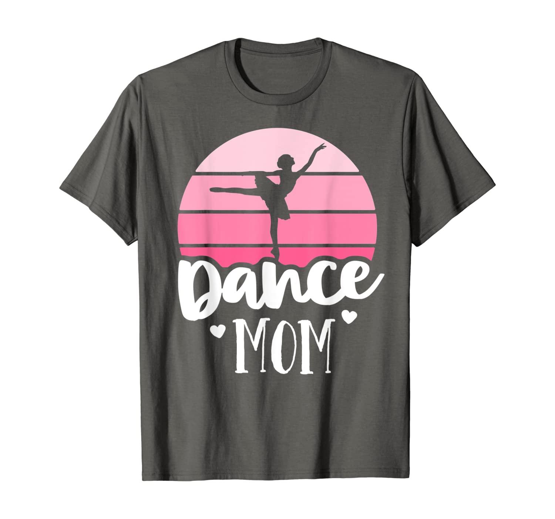 Retro Dance Mom Vintage Pink Ballerina Shirt Ballet Dancer T-Shirt