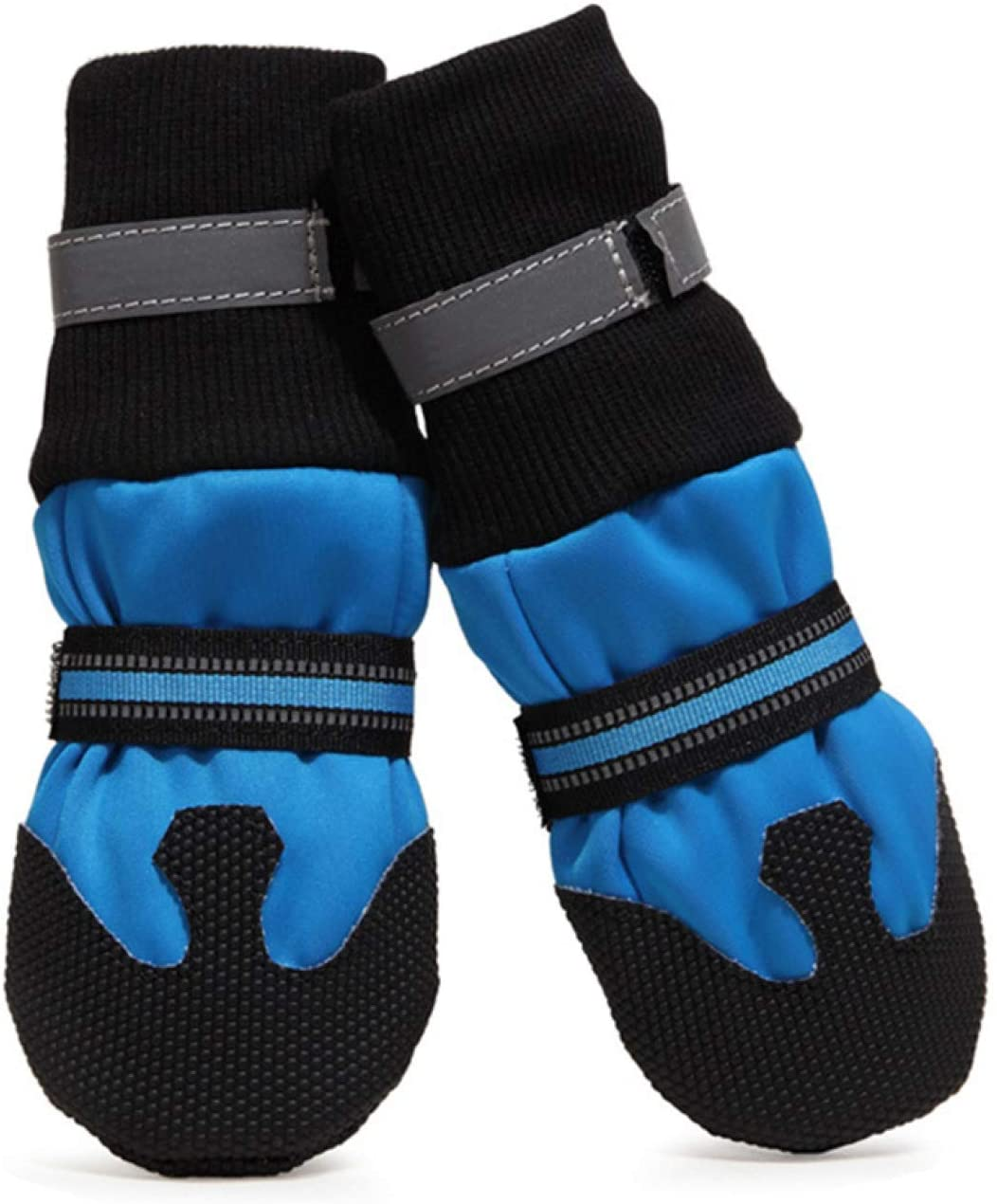 Jim Hugh Waterproof Dogs and Cats Booties Comfortable Paws Protector Skid-Proof Pets Boot with Reflective Strap for Dogs and Cats 4Pcs/Set