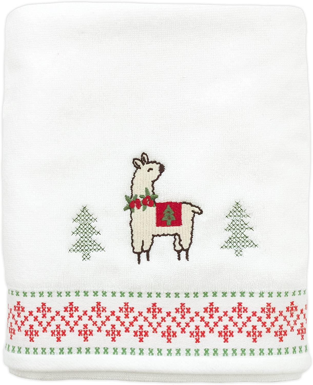 Festive Llama Bath Towel